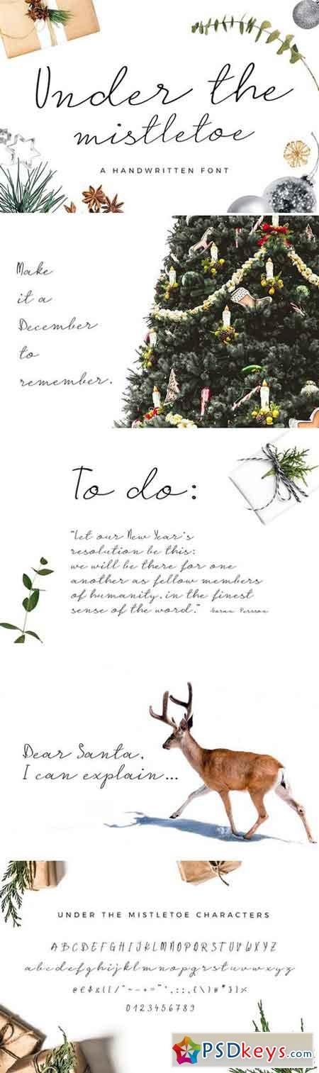 Under the Mistletoe- Script Font 2176746