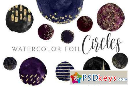 Watercolor Circle Foil Elements 2176758