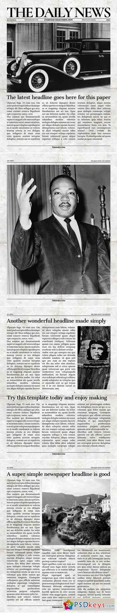 Vintage InDesign Newspaper Template 2176523