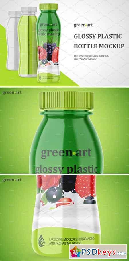 Glossy Plastic Bottle Mockup 2122547