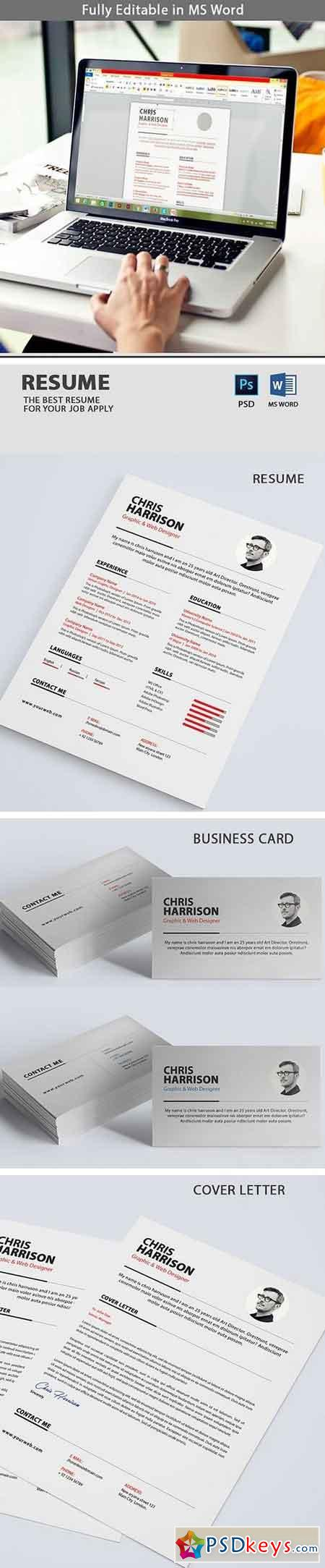 Clean Resume With Business Card 2077083
