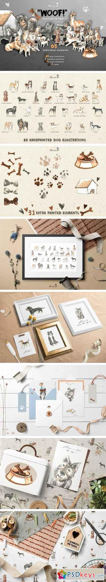 'Woof!' illustration pack 2108491