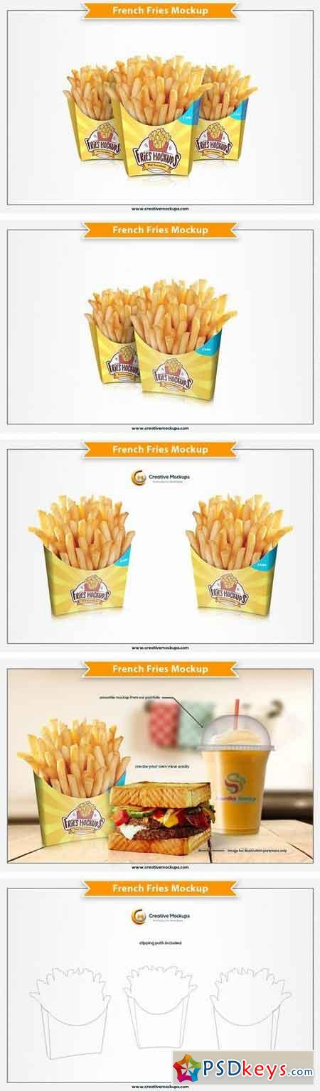 French Fries Mockup 2077001
