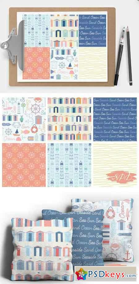 Nautical Seaside Digital Patterns 846164