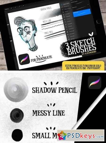 Sketch brushes for PROCREATE 2094754