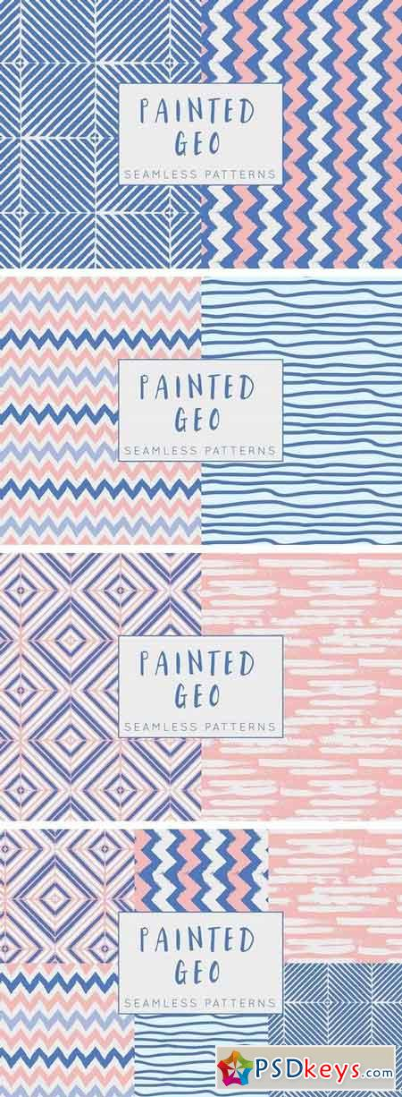 Painted Geo Seamless Patterns 786269