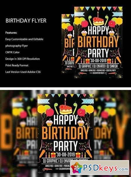 Birthday Bash Flyer Template 1962395