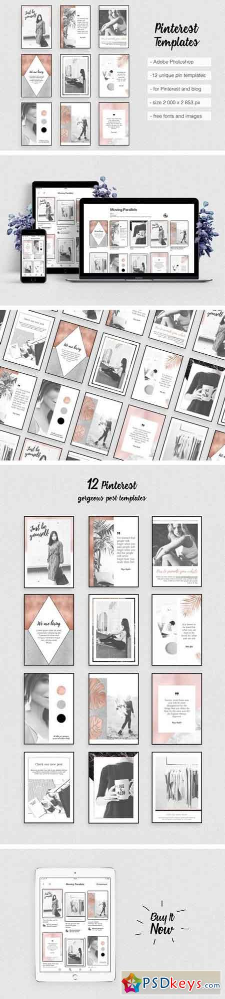 Pinterest Templates Rose Gold 2000348