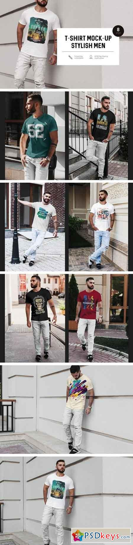 T-Shirt Mock-Up Stylish Men 2000828