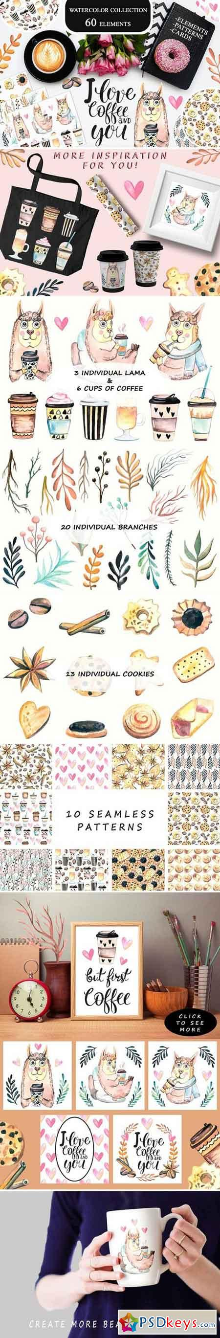 Watercolor Coffee Collection 2152114