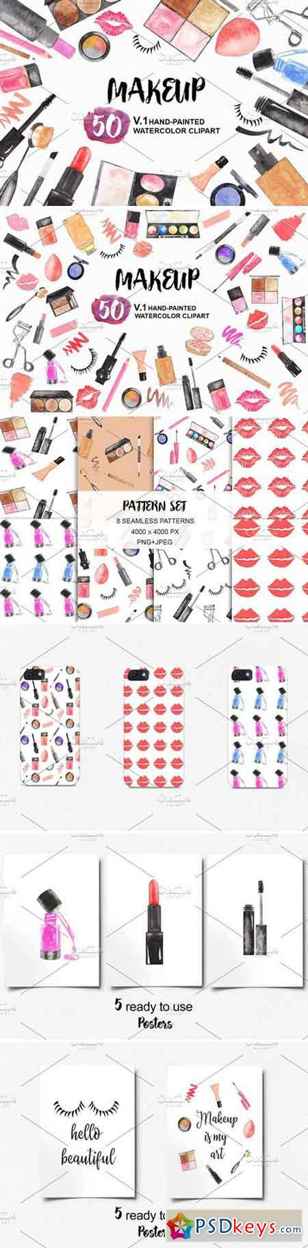 Watercolor Makeup Cosmetics Set 2185633