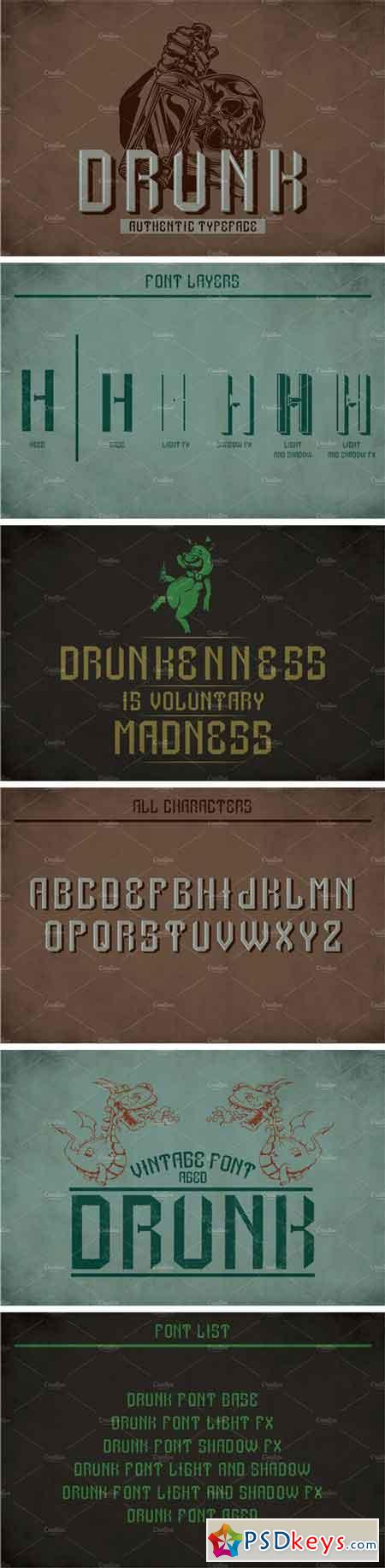 Drunk Modern Label Typeface 2198608