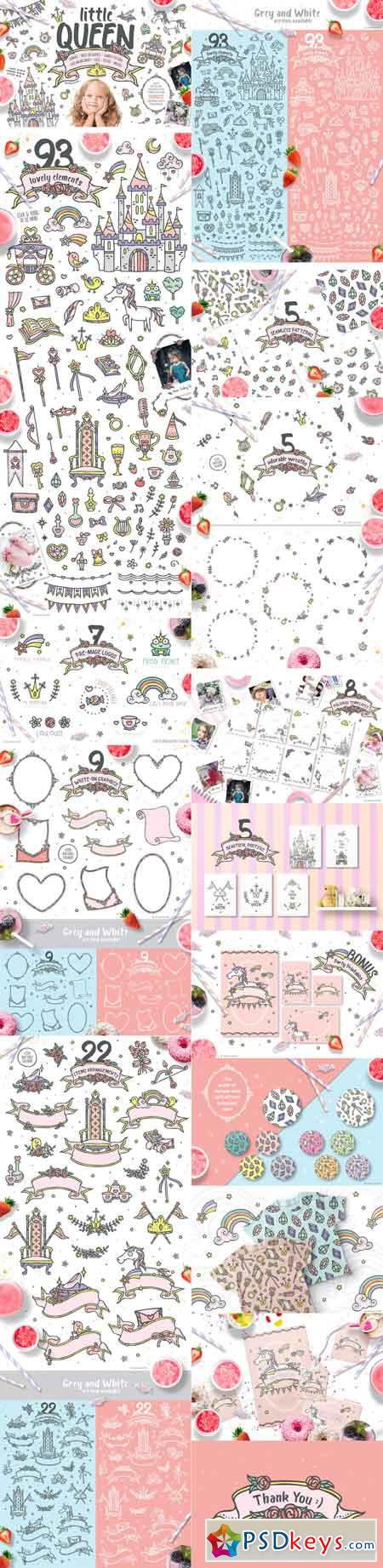 Little Queen princess graphic pack 2131407