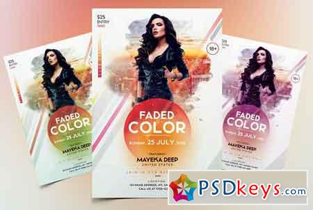 Faded Color - Event Flyer Template 2124215
