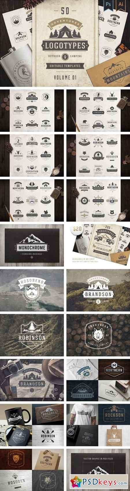50 Outdoor logos and badges 2092836