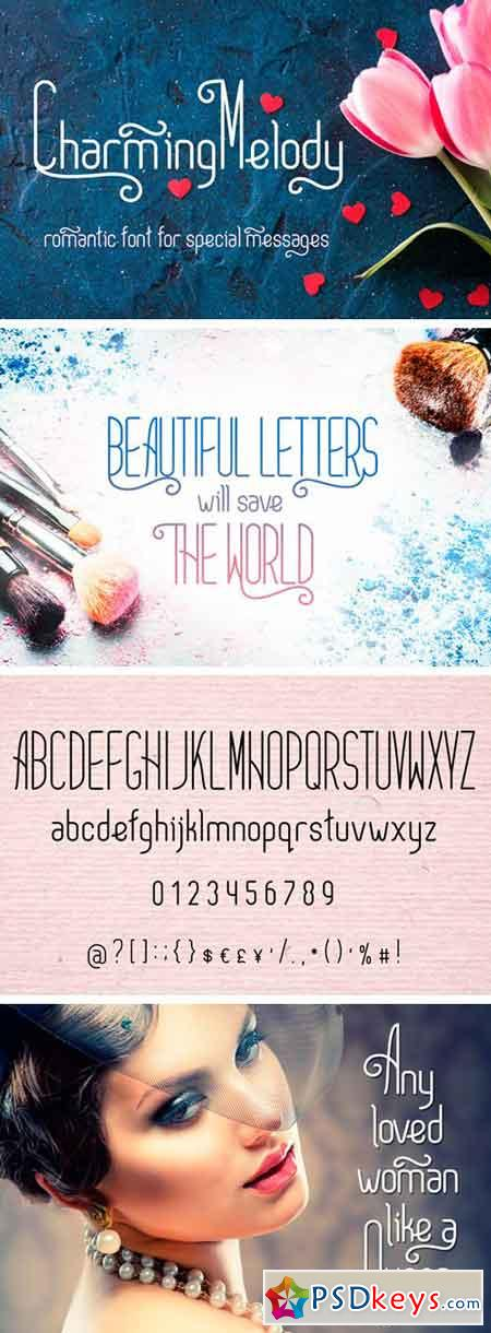 CharmingMelody Romantic Curly Font 20904629