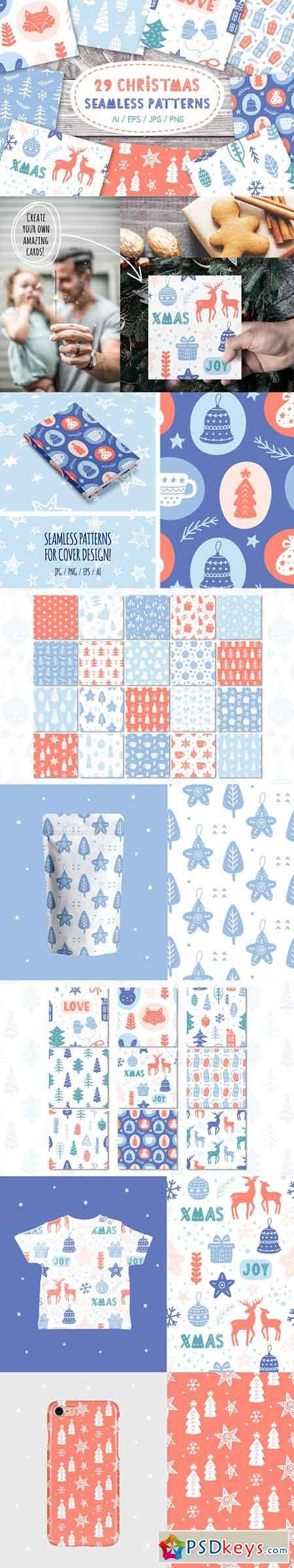 Nordic Christmas Seamless Patterns 2118721