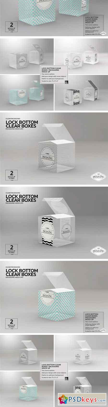 Clear Lock Bottom Boxes MockUp 2221915