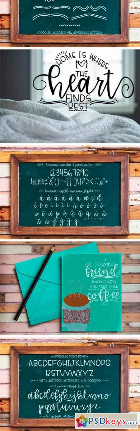 Lucille Hand Lettered Font Duo 87352
