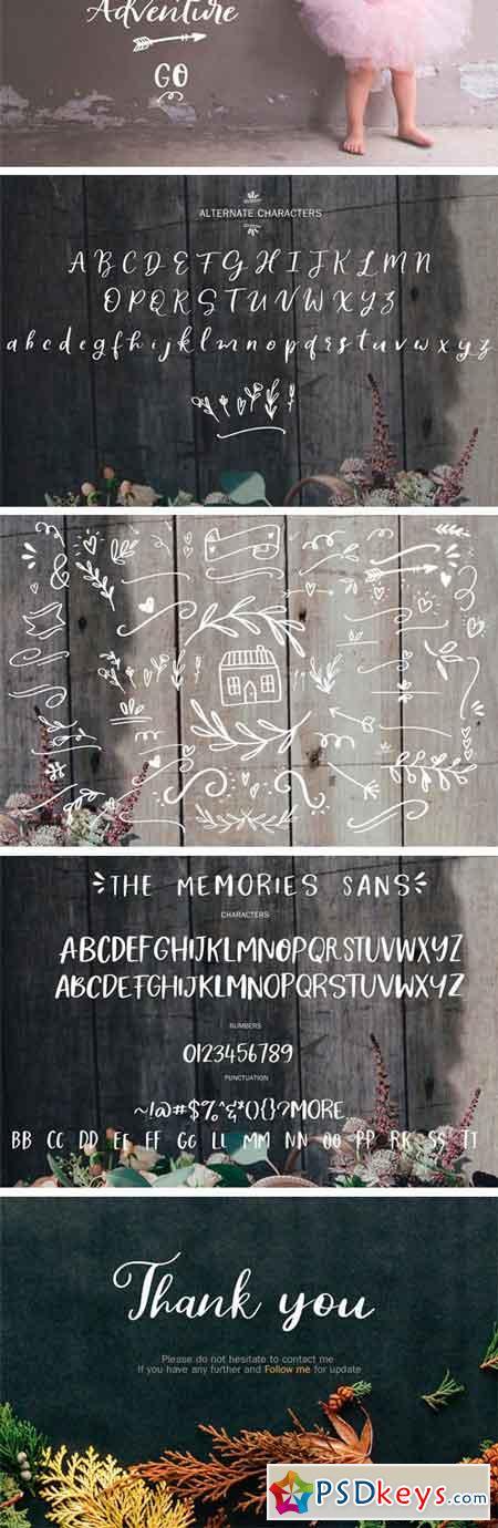 The Memorie Font DUO & Doodle 2221207