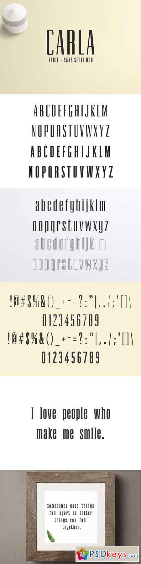 Carla Duo 8 Font Family Pack 2123066