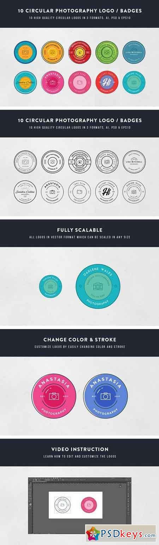 10 Circular Photography Logos Badges 1499309