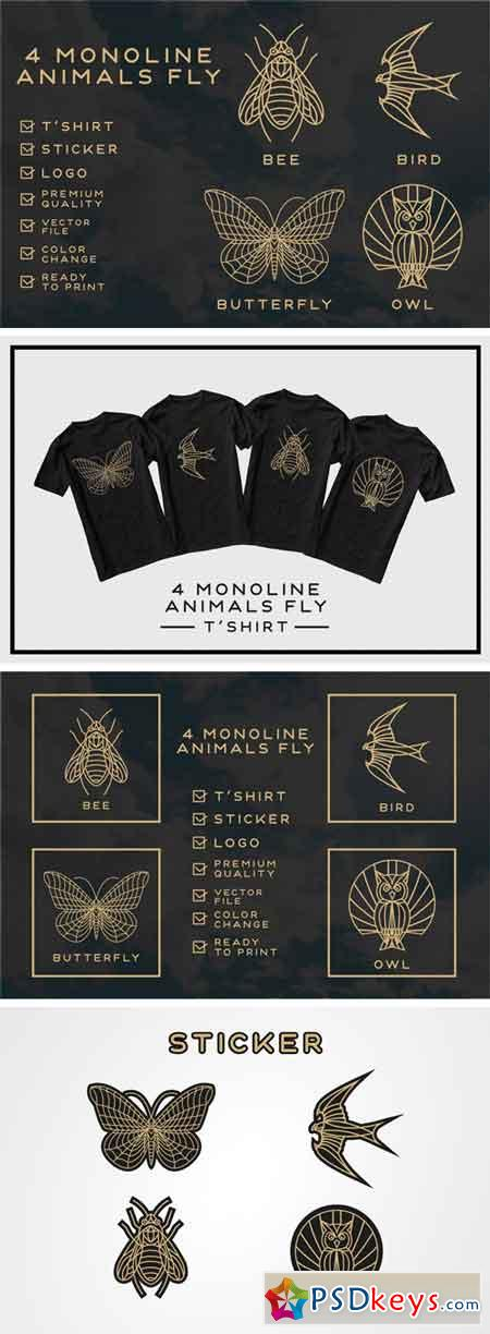 Monoline Fly Animals 2182195