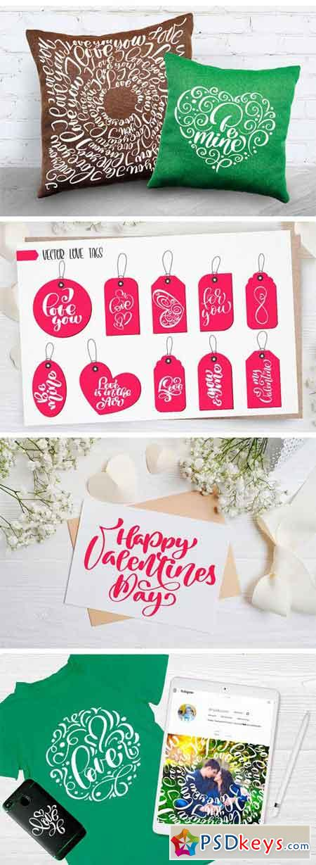 Valentine's Day Lettering Overlays 2173050