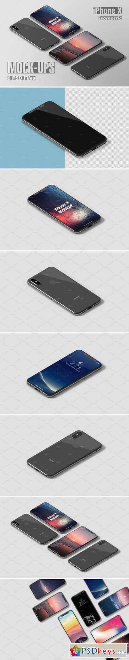 Isometric iPhone X Mockup 2203248