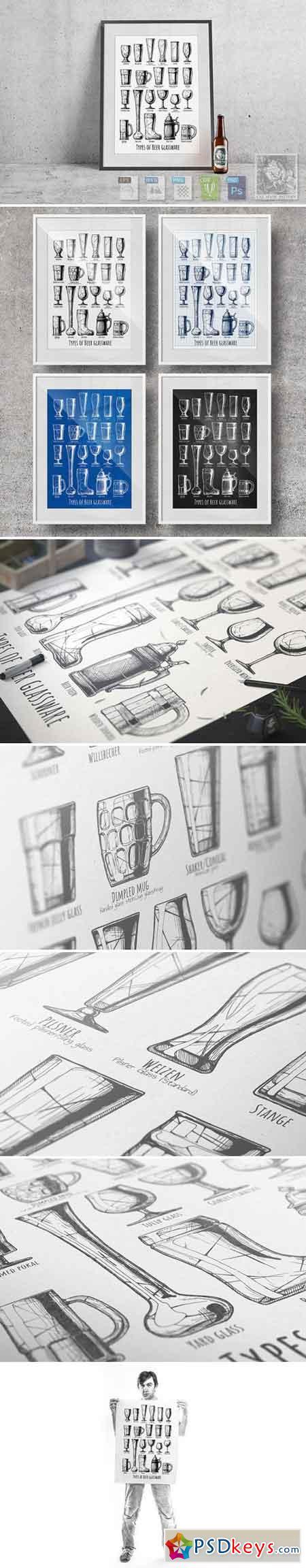 Types of Beer glassware 2227774