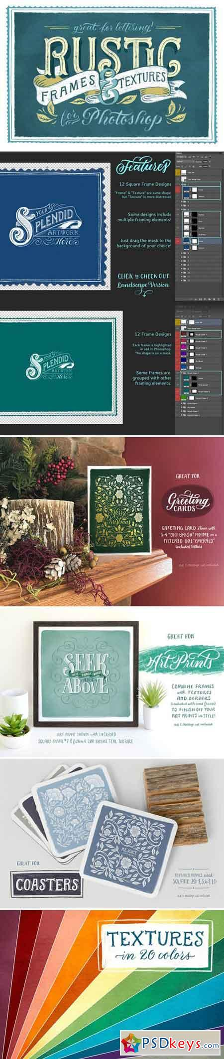 Rustic Frames & Textures - Photoshop 2222041