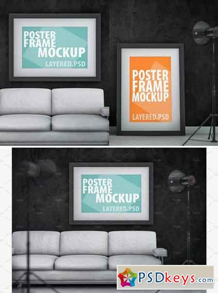 Mockup poster frame. PSD 2233215