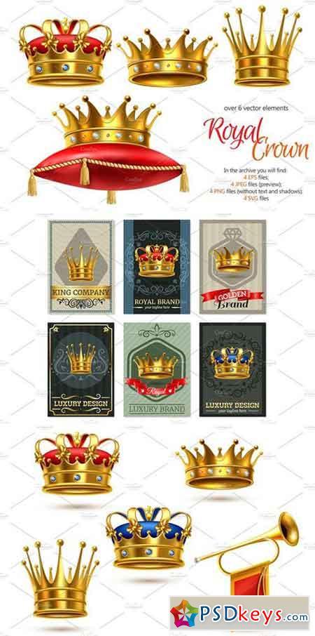 Realistic Crown Set 2227098