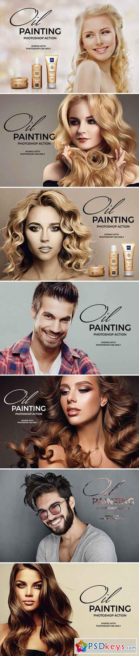 Oil Painting Photoshop Action 2231723