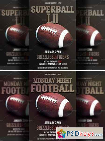 American Football Super Bowl Flyer 2232764