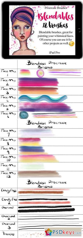 Procreate Blendable Brushes 2230835