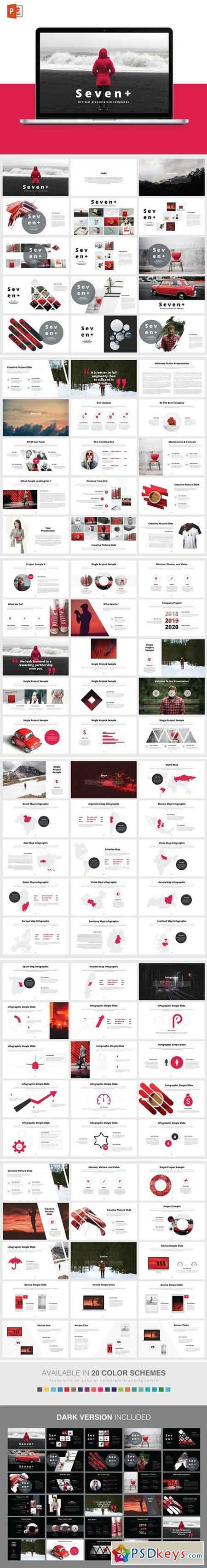 SEVENT+ POWERPOINT Template 2232943