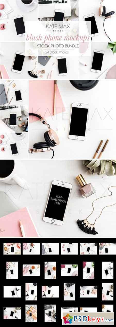Blush Phone Mockups Stock Bundle 2233249