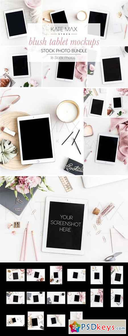 Blush Tablet Mockups Stock Bundle 2233231