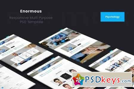 Enormous Psychology & psychiatrist PSD Template