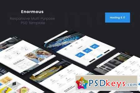 Enormous Hosting & Technology PSD Template