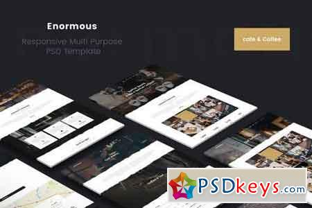 Enormous Cafe & Coffee PSD Template