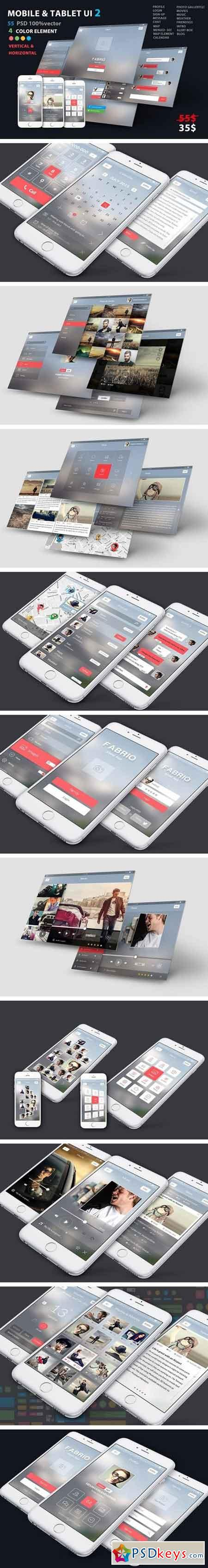 Mobile and Tablet UX UI kit 2 1966000