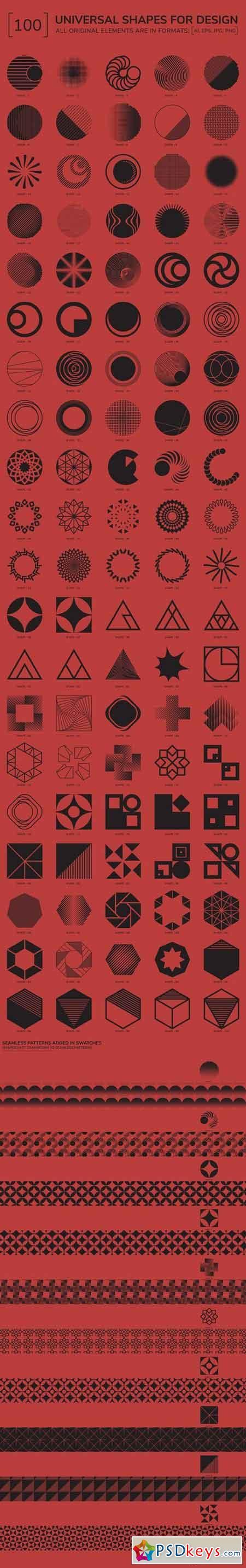 100 Geometric Shapes. Part 3 2108860