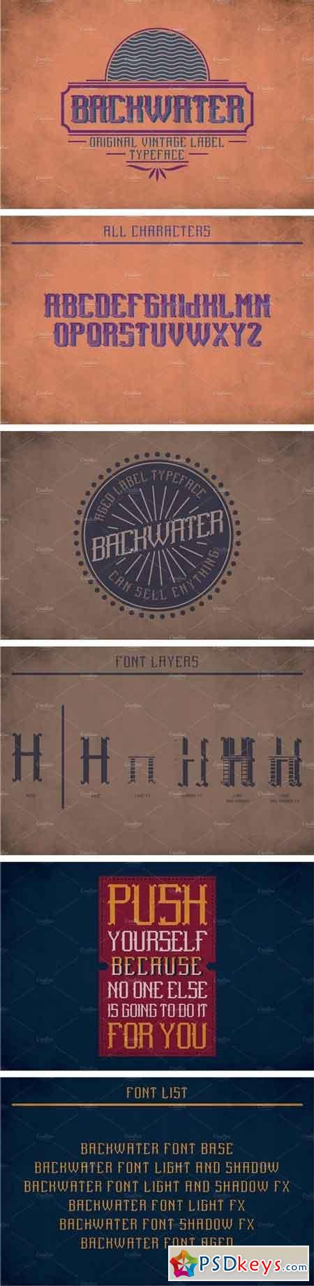 Backwater Vintage Label Typeface 2091497