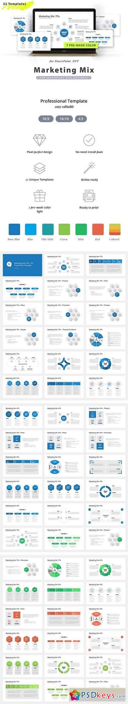 Marketing Mix PPT Template 2091056