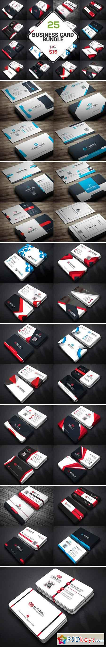 25 Business Card Bundle 2119501 » Free Download Photoshop Vector ...