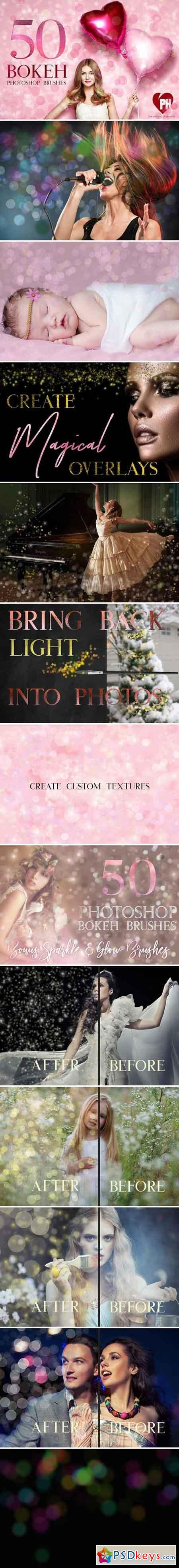 50 Bokeh Photoshop Brushes 2256422