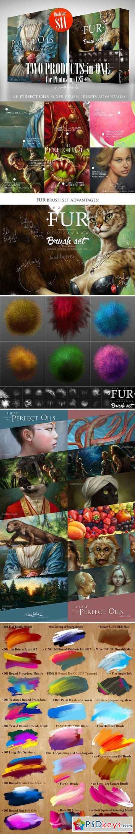 2 in 1 Prefect Oils & FUR Brushsets 2227611