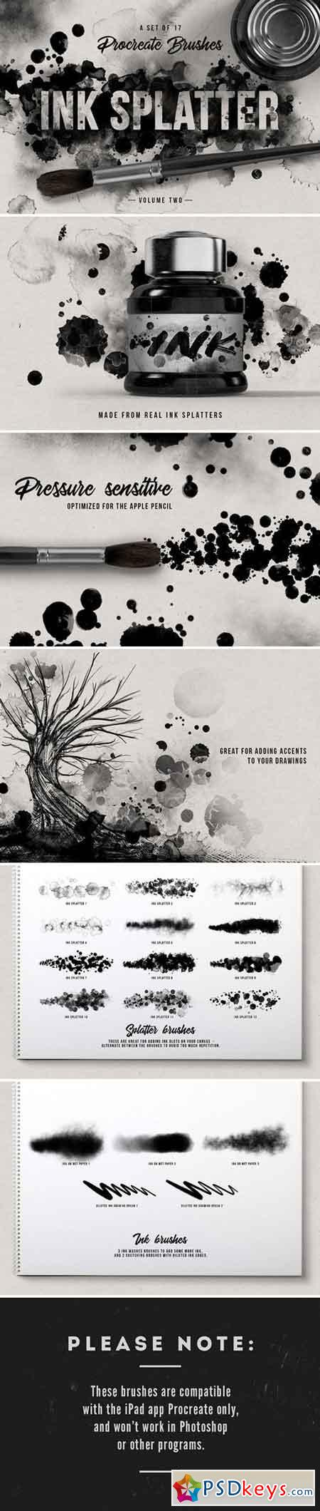 Ink splatter Procreate brushes vol 2 2184952